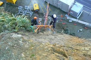 Rope Access Drilling Of Anchors