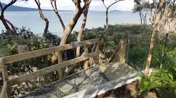 Private Beach Access With Glass Balustrade & Gate