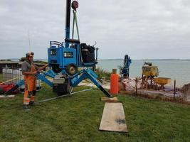 Mobilising of equipment to the slip site